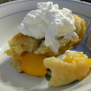 Peach Cobbler with Fresh Whipped Cream. Recipe