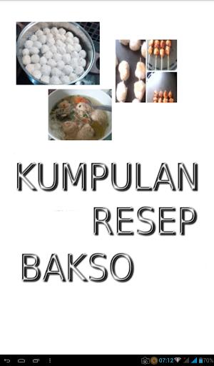 Kumpulan Resep Bakso