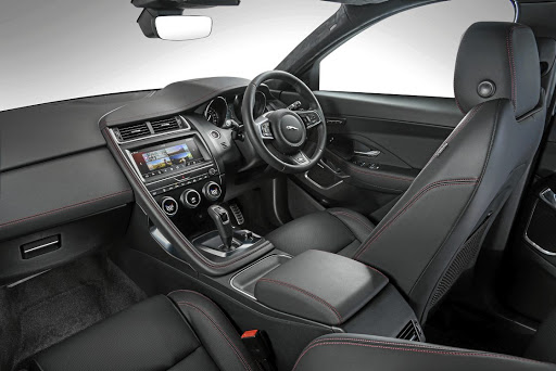The interior features F-Type styling cues as well as reasonable levels of space and equipment. Picture: JAGUAR SA