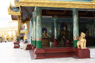 Photo: Year 2 Day 54 -  One of the Temples in Shwedagon Paya (note the LED Display)