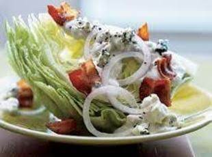 Iceberg Wedge With  Bacon & Blue Cheese Dressing