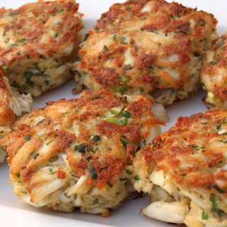 Maryland Crab Cakes with Quick Tartar Sauce.