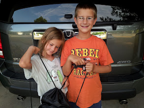 Photo: And of course they both argued over who got to carry the bag with the #BagItForward donation. They were both so thrilled with what they were able to do, and it really didn't cost all that much with everything on sale!