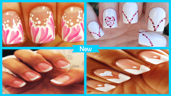 Best DIY Valentine French Manicure - náhled