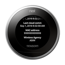 Thermostat mac address