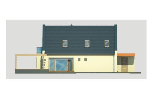 Vito wersja A bez garażu - Elewacja tylna