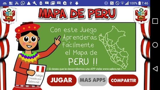 Juego del Mapa de PERU - náhled