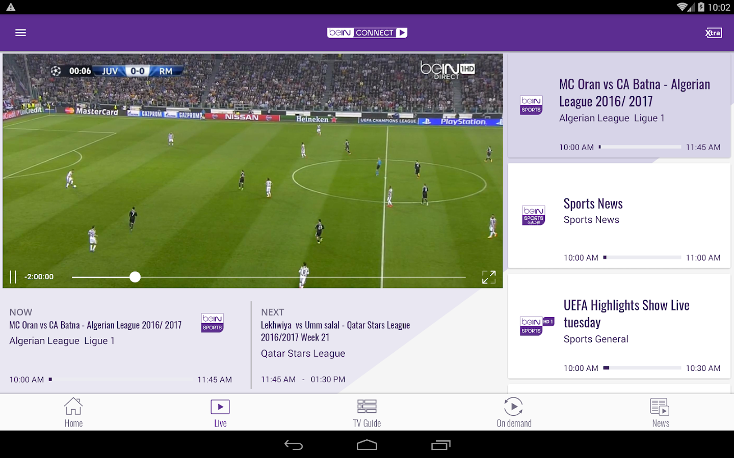 beIN CONNECT- screenshot