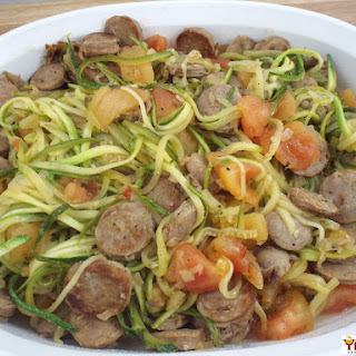 Sausage and Zoodles.