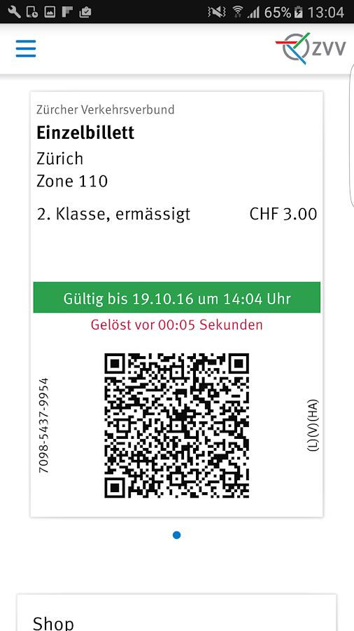 ZVV-Tickets- screenshot