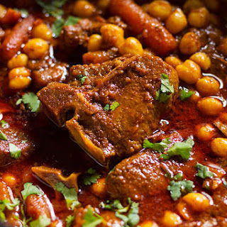 Curry Lamb Chickpeas Stew Recipe