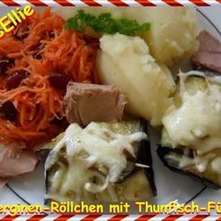 ~ Hauptgericht ~ Auberginen-Röllchen mit Thunfisch-Füllung