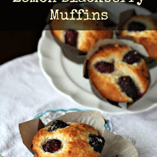 Lighter Lemon Blackberry Muffins Recipe