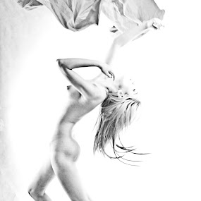 Wild & Free by Bong Flores - Nudes & Boudoir Artistic Nude ( nude, freedom, art, dance, high-key )