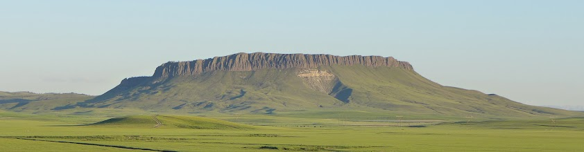 Photo: Behold - Crown Butte near Simms (west of Great Falls, 85 miles from Helena) NOTE: This photo was taken last June.