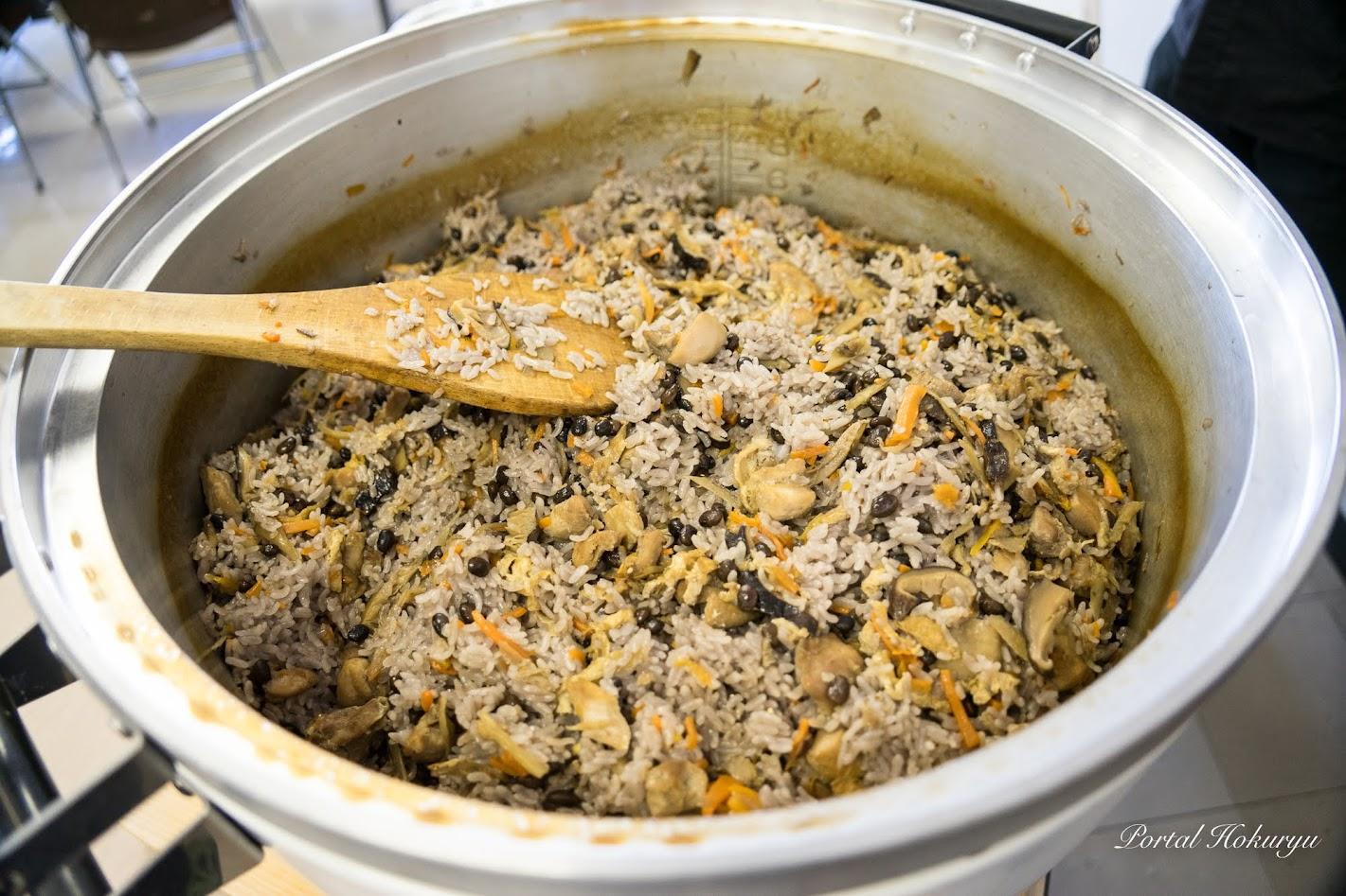 黒千石大豆入り混ぜご飯
