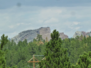 Photo: Day 24 Hot Springs SD to Mt Rushmore (Keystone SD) 53 miles 5600' climbing First point on road where we could see Mt Rushmore