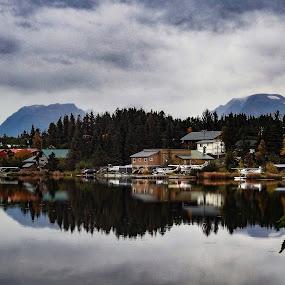Beluga Lake Reflections by Patricia Phillips - Landscapes Travel ( alaska travel lakes homer beluga )