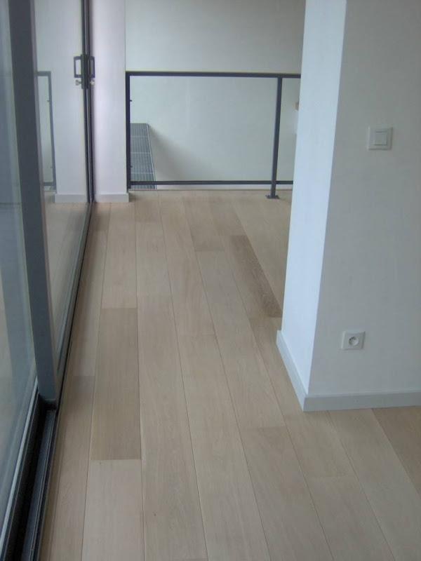Nieuwe parketvloeren door Parketwerken Wim Daneels - Nieuw parket - eik - ondervloer - afwerking: witte olie