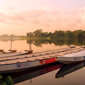 Lower Seletar Pierce by Surya  Iskandar - Travel Locations Landmarks ( reservoir, lower seletar pierce, lake, boat, singapore )