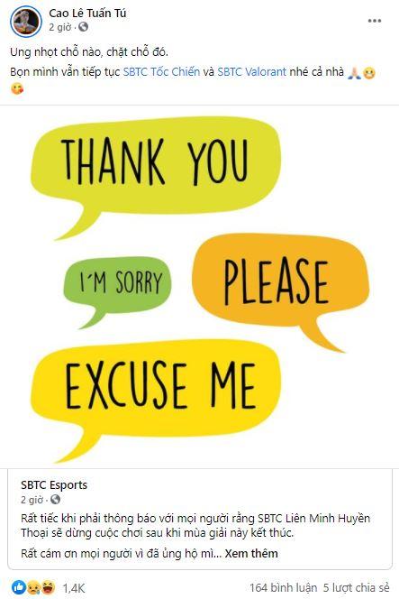 SBTC Esports giải thể team LMHT: Cộng đồng tranh cãi nảy lửa, quản lý ngầm nhắc lại drama với GAM Esports - Ảnh 2.