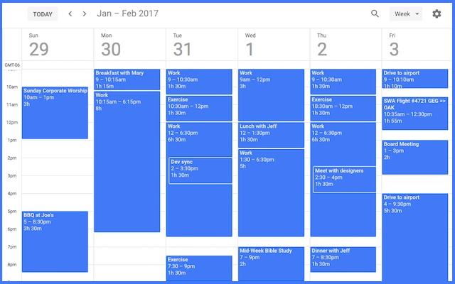 Event Durations for Google Calendar