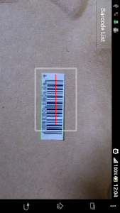Bar code history screenshot 0