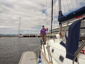 Photo: In Hobart, going for a harbour sail with Glenn and Wendy.