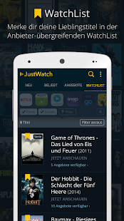 JustWatch - The Streaming Guide Capture d'écran