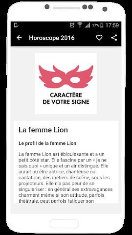 android Horoscope 2016 en Français Screenshot 13