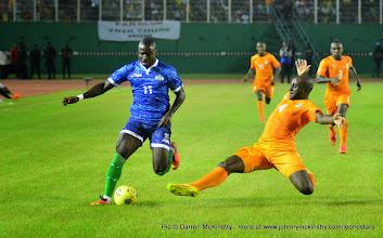 Photo: Alhadji Kamara   [Leone Stars v Ivory Coast, 6 September 2014 (Pic © Darren McKinstry / www.johnnymckinstry.com)]