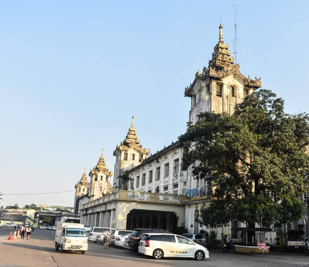 yangon central railway station burma