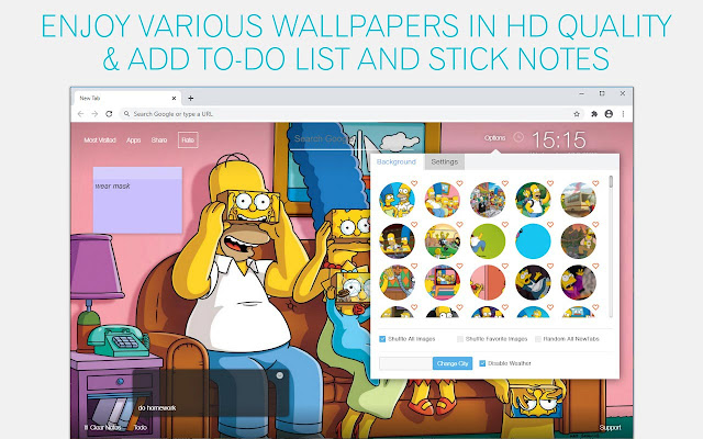The Simpsons Wallpaper HD The Simpsons New Tab
