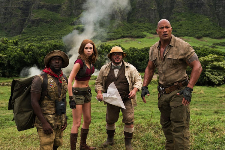 'Jumanji: Welcome to the Jungle' is a 2017 fantasy adventure starring Kevin Hart, Karen Gillan, Jack Black and The Rock.