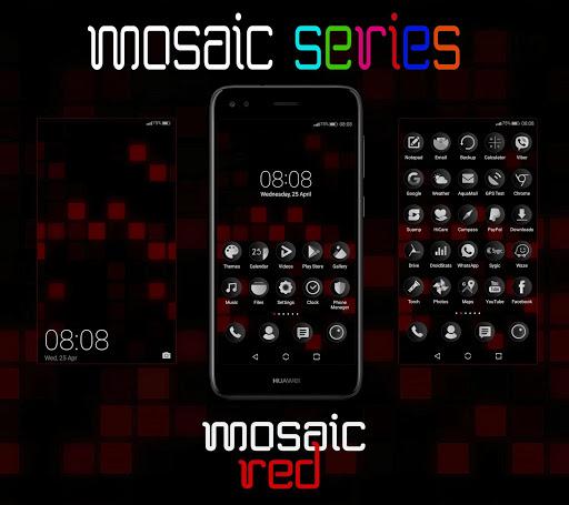 Mosaic Red EMUI 5/8/9 Theme screenshot 1