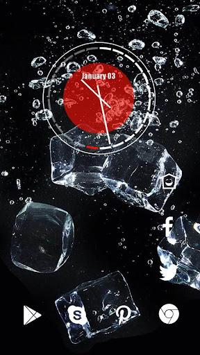 黑色空间冰块主题