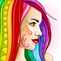ColorSky: free antistress coloring book for adults icon