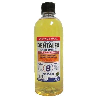 enjuague bucal dentalex amarillo con alcohol 500ml