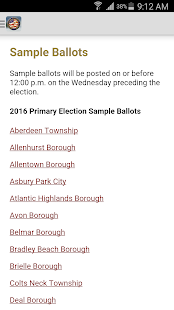 Monmouth County Votes- screenshot thumbnail
