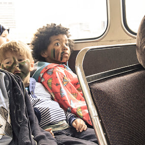 Off To War by Adam Bunce - Babies & Children Children Candids ( bus, peace, adambunce, kids, war )