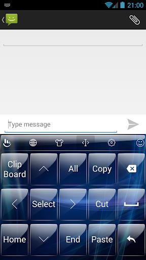 個人化必備免費app推薦 Glass Blue TouchPal Skin線上免付費app下載 3C達人阿輝的APP