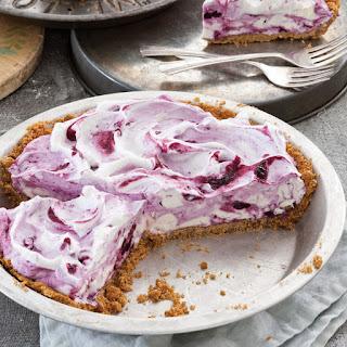 Frozen Blueberry Cream Pie