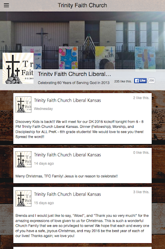 Trinity Faith Church - screenshot