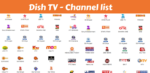 Channel list, channel Recharge for Dish TV DTH app on