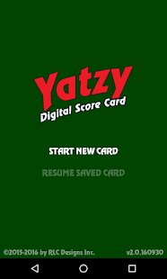 Yatzy Digital Score Card- screenshot thumbnail