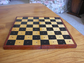 Photo: CH83; a lovely board with 0.5in squares; for primary use with pegged set but will suit others