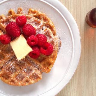 Brown Butter Almond Milk Waffles.