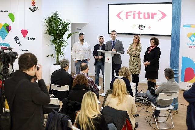 Presentación de las actividades del Ayuntamiento de Almería en Fitur.
