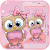 Cartoon Pink Bow Owl Theme file APK for Gaming PC/PS3/PS4 Smart TV