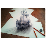 3D Drawing Ideas Icon